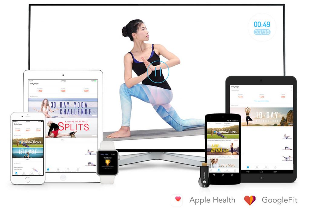 Daily Yoga is a series of Yoga workouts